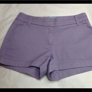 J.CREW chino shorts purple NWOT size 0